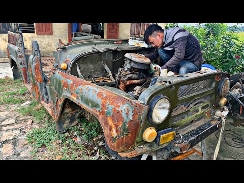 Restoration of ancient cars UAZ 469 | Restore and repair of engine gearbox for UAZ 469 vehicle