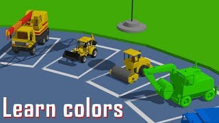 Toy Construction Vehicle Factory - Learning colors for Kids | Toys are fun - Kolory dla dzieci