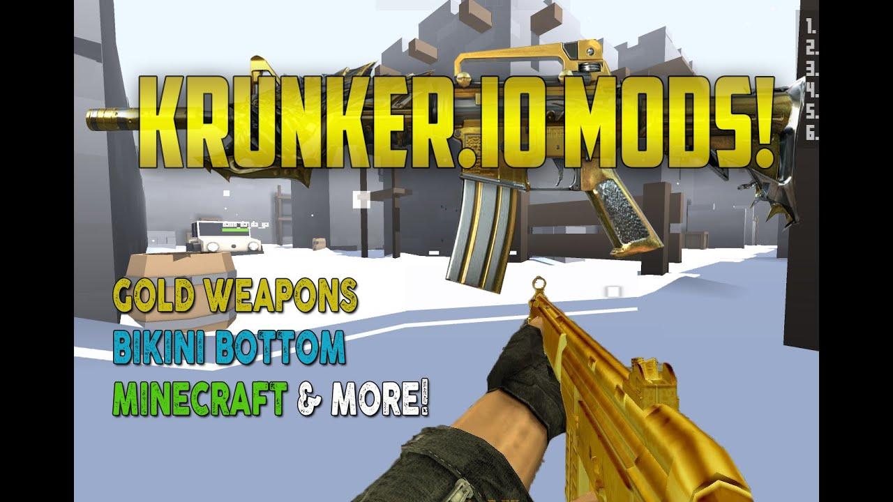 Krunker io Mods Bots Minecraft, Gold Weapons, Bikini Bottom Like CS  Hacks,Cheats