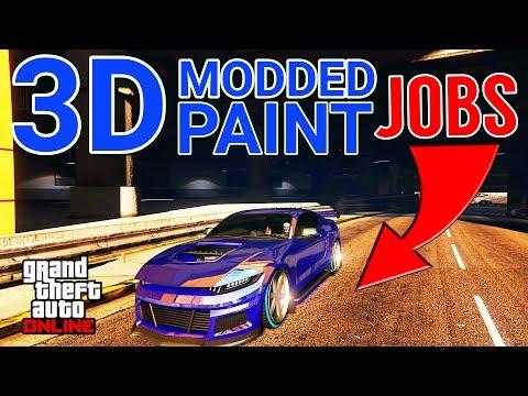 GTA 5 ONLINE - ULTRA RARE 3D MODDED PAINT JOBS (GRAND THEFT AUTO V)
