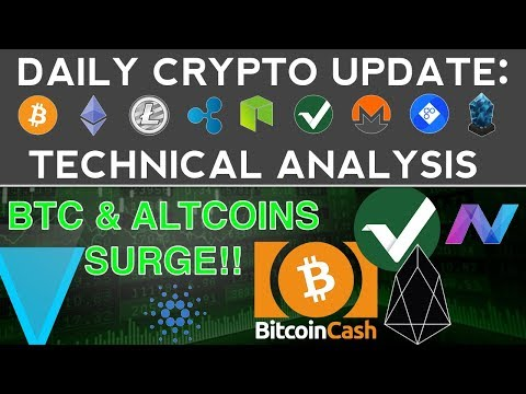 BTC, EOS, CARDANO, VERTCOIN, XVG, NAV COIN SURGE! (11/26/17) Daily Update + Technical Analysis