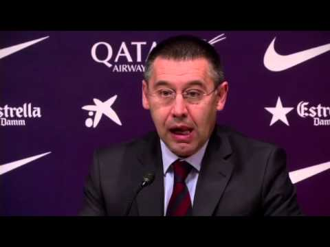 Josep Maria Bartomeu appointed president of Barcelona -- video