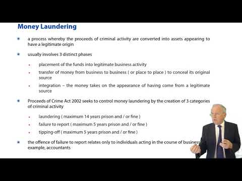 ACCA F4 Global - Company Law: Illegalities - Wrongful Trading -  Money Laundering - Insider Dealing