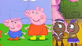 Peppa and Luntik ! Puzzle for Kids ! New video