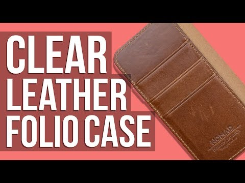 A Clear AND Leather iPhone X Case?!  Nomad Clear Folio Case for iPhone X  Review