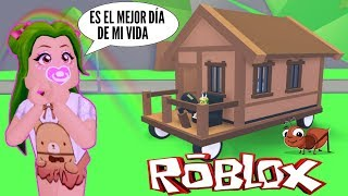 👸🏻BABY KAROLA SPENDS 24 HOURS IN THE NEW ADOPT ME🏠- ROBLOX ROLLING HOUSE