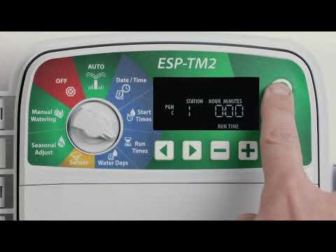 Controlador Rain Bird ESP-TM2: Programación Básica