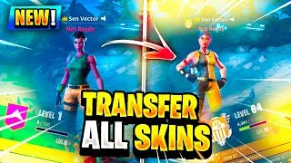 HOW TO TRANSFER SKINS TO ANY PS4, XBOX, OR PC FORTNITE ACCOUNT! (Fortnite Battle Royale)