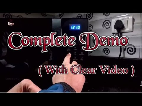 Demo of Samsung 21 L Convection Microwave Oven [Model no CE76JD-B/XTL or CE73JD-B/XTL]