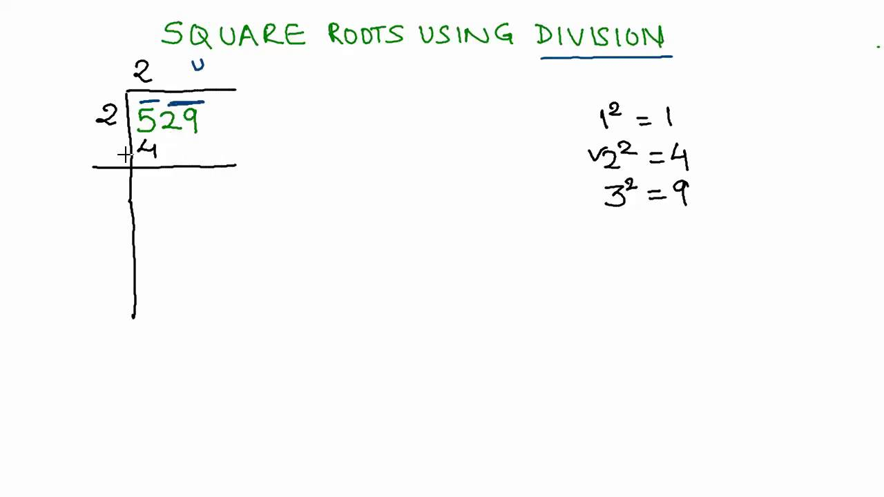 10 Finding Square Root Of 3 Digit Number Using Division