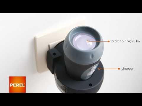 Lanterna recarregável indução - luz de emergência