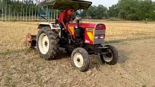 आईशर ट्रैक्टर एक सिलेंडर का कमाल पिछले एक साल से हो रही है खेती