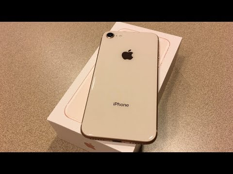 IPhone 8 Gold Unboxing & First Impressions