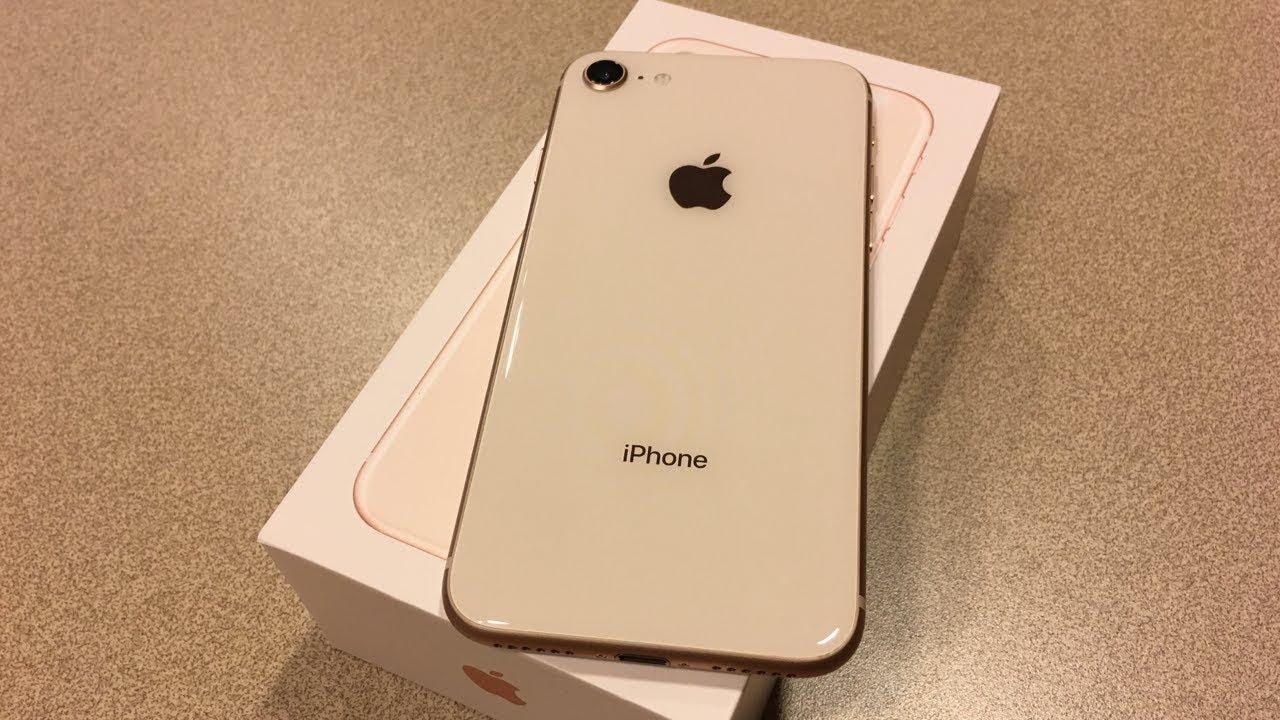 iphone x 8 gold