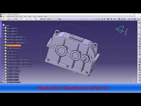 Reduction Gearboxes in catia (Part 3)