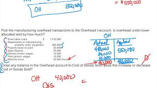 Job Costing - Full Example of Overhead Cost Allocation and Over Rate Calculation