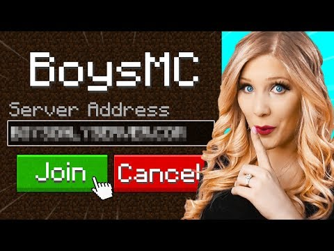 I went undercover on a BOYS Only Minecraft Server!