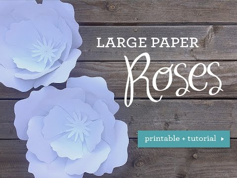 Diy Wedding Huge Paper Rose Youtube