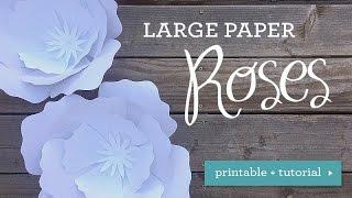 DIY Wedding - Huge Paper Rose