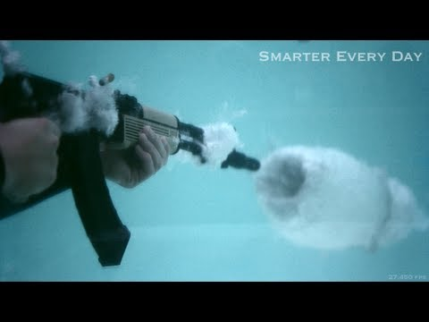 AK-47 Underwater at 27,450 frames per second (Part 2)