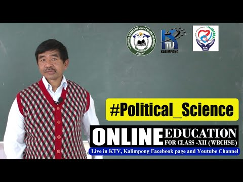 Online Education For Class-XII (WBCHSE). (Episode 43) Subject: #Political_Science