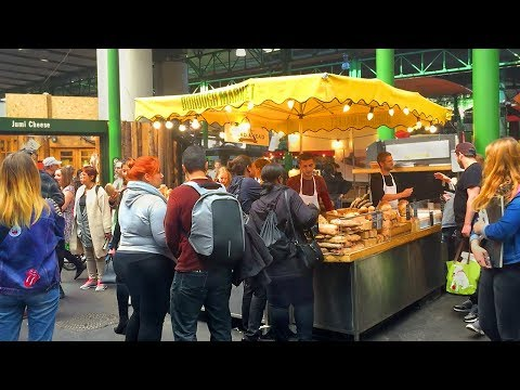 London Walk - Borough Market incl. Street Food at London Bridge - England, UK
