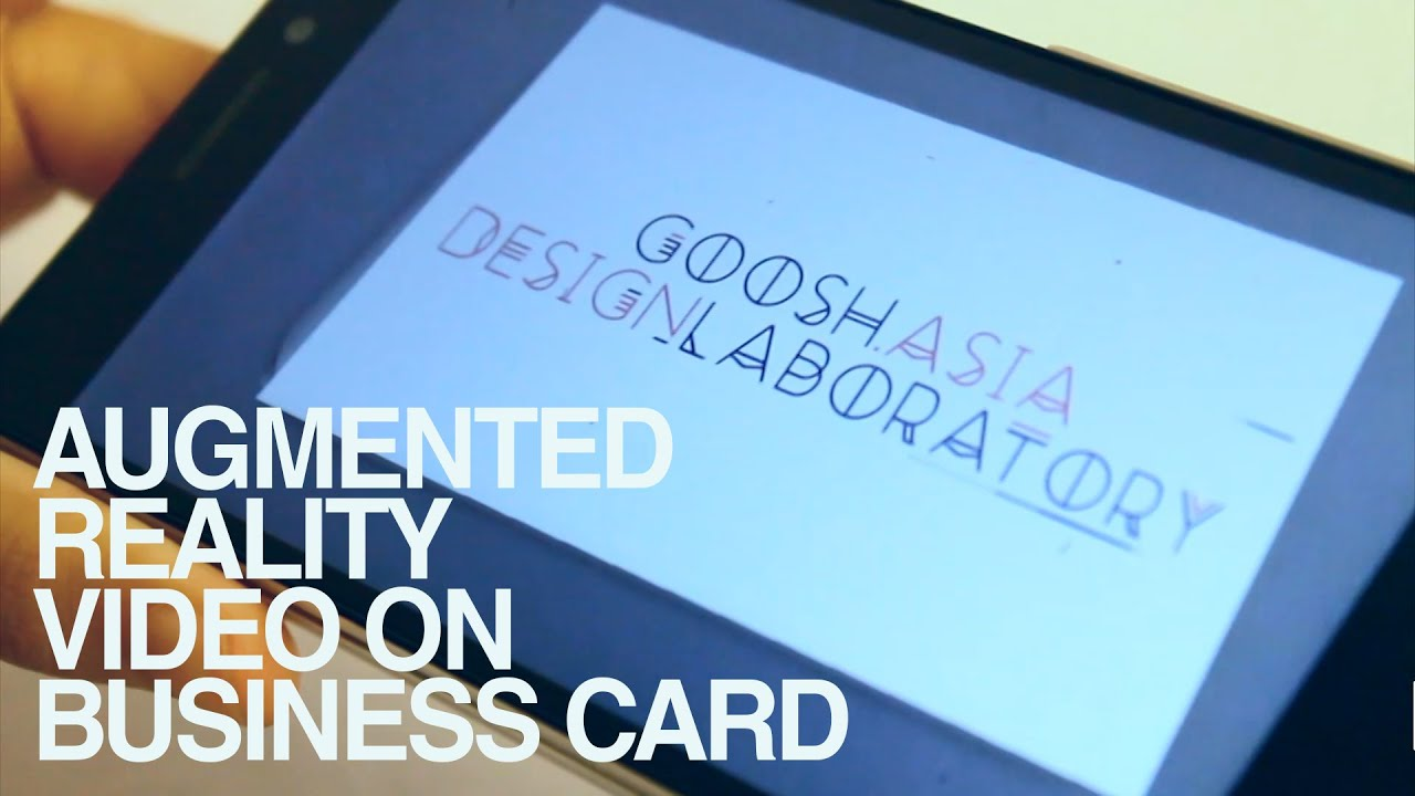 AUGMENTED REALITY VIDEO ON BUSINESS CARD