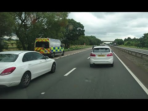 1:53pm on 7th July 2017 A19 South - North Yorkshire police camera van