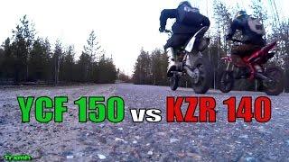 Pit Bikes YCF 150 vs Stomp KZR 140