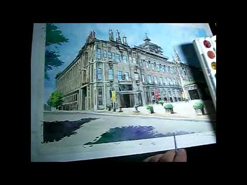 Reno Regis_Water color painting of UST building
