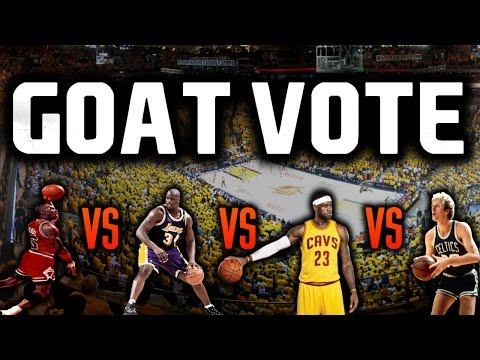 BEST NBA PLAYER EVER? NBA GOAT VOTE | Lebron vs MJ, Shaq vs Kareem, Bird vs Wilt, Russel vs Duncan