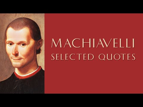 🔴 Profound Quotes by Machiavelli