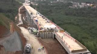 Obras de ampliação da Rodovia dos Tamoios seguem a todo vapor