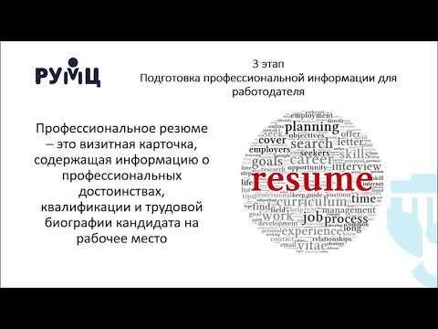 Лекция 2.1 Этапы поиска работы и их характеристика, особенности с учетом нозологии нару...