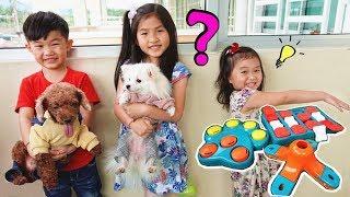 狗狗吃零食挑戰!好可愛喔~寵物狗狗 玩遊戲 玩具開箱~Cute Puppy) Fun For kids by Jo Channel!