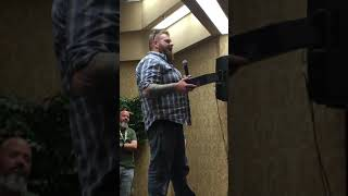 Travis McIntyre accepts 2019 Gary Reed Independent creator of the year award
