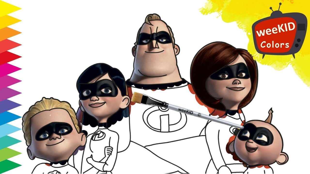 Coloring Incredibles 2 Mr Incredible