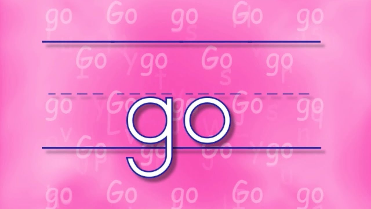 The GO Song | Sing & Spell Sight Words! - YouTube