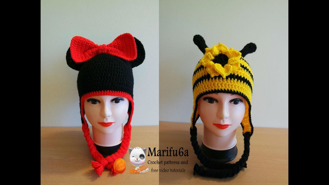 how to crochet minnie mouse and bee hats free pattern by marifu6a ...