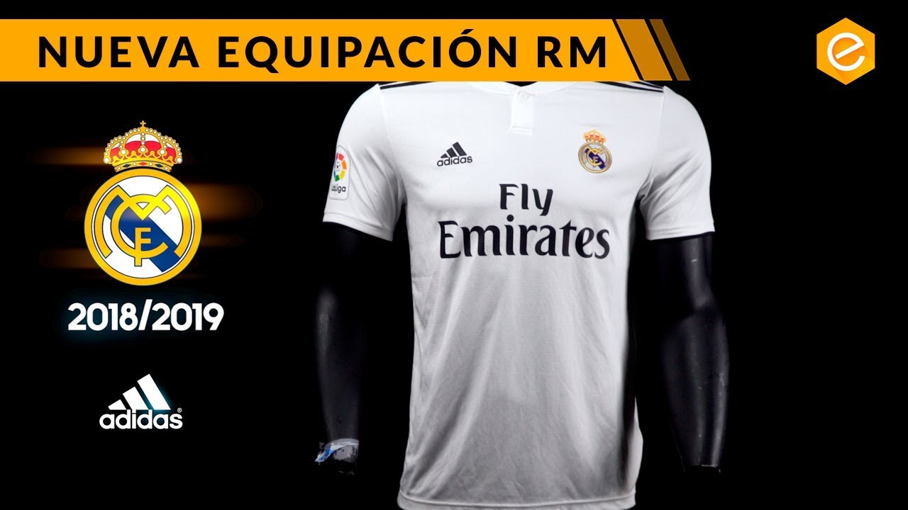 a0c011c9482fa NUEVA CAMISETA REAL MADRID 2018 19 - YouTube