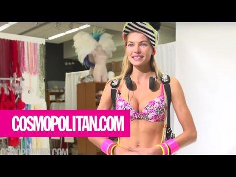 Behind the Scenes Jessica Hart's Victoria's Secret Fashion Show Fitting | Cosmopolitan
