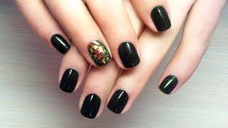 Дизайн ногтей гель-лак shellac - Дизайн слюдой (видео уроки дизайна ногтей)