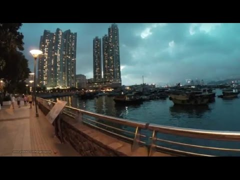 【Hong Kong Walk Tour】Weekday Evening @ Hong Kong Victoria Harbor-front