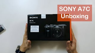SONY A7C Unboxing (the world&#…
