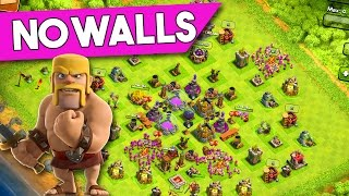NO WALLS BASE DESIGN - Clash of Clans - A BASE WITHOUT WALLS