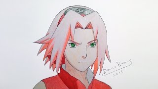 How to draw Sakura shippuden version | speed drawing