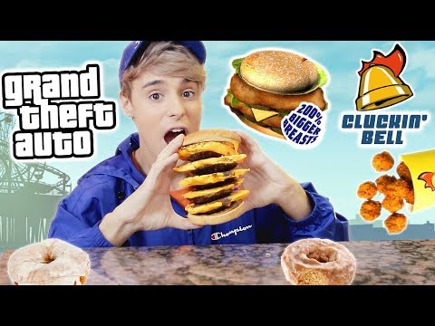 i only ate GRAND THEFT AUTO foods for 24 hours