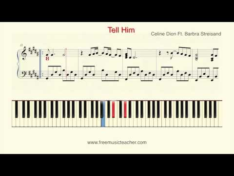 """How To Play Piano: Celine Dion Ft  Barbra Streisand """"Tell Him"""" Piano Tutorial by Ramin Yousefi"""