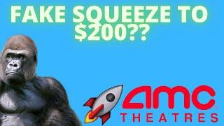 AMC STOCK: FAKE SQUEEZE TO $200? - ADAM ARON SELLING FUD! - (Amc Stock Analysis)