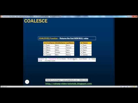 Coalesce function in sql server Part 16